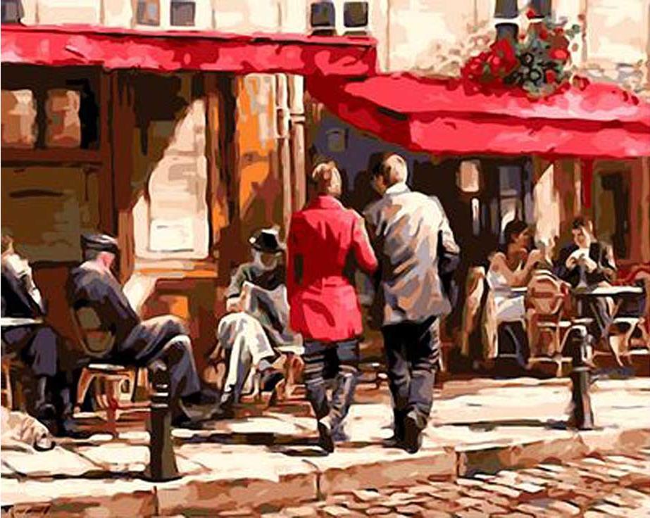 «Кафе у дороги» Ричарда МакнейлаPaintboy (Premium)<br><br><br>Артикул: GX3616<br>Основа: Холст<br>Сложность: сложные<br>Размер: 40x50 см<br>Количество цветов: 28<br>Техника рисования: Без смешивания красок