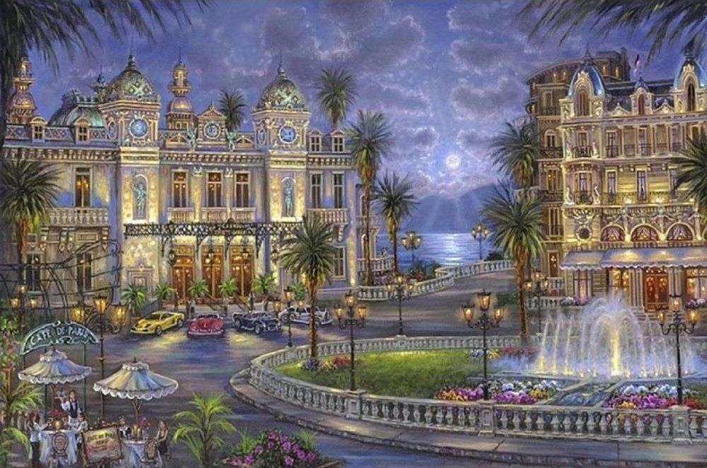 Картина по номерам «Казино в Монте-Карло» Роберта ФайнэлаPaintboy (Premium)<br><br><br>Артикул: GX3861<br>Основа: Холст<br>Сложность: сложные<br>Размер: 40x50 см<br>Количество цветов: 24<br>Техника рисования: Без смешивания красок