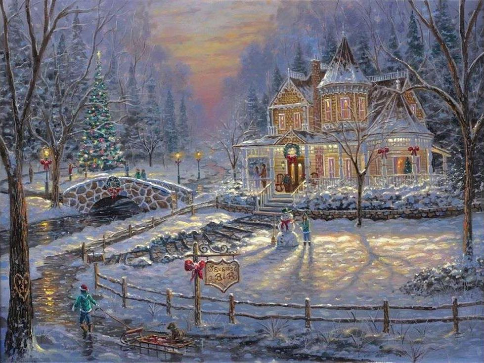 «Рождество» Роберта ФайнэлаPaintboy (Premium)<br><br><br>Артикул: GX3864<br>Основа: Холст<br>Сложность: сложные<br>Размер: 40x50 см<br>Количество цветов: 24<br>Техника рисования: Без смешивания красок