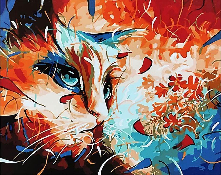 Картина по номерам «Задумчивый кот» Наушада ВахидаРаскраски по номерам Paintboy (Original)<br><br><br>Артикул: GX3963_R<br>Основа: Холст<br>Сложность: средние<br>Размер: 40x50 см<br>Количество цветов: 24<br>Техника рисования: Без смешивания красок