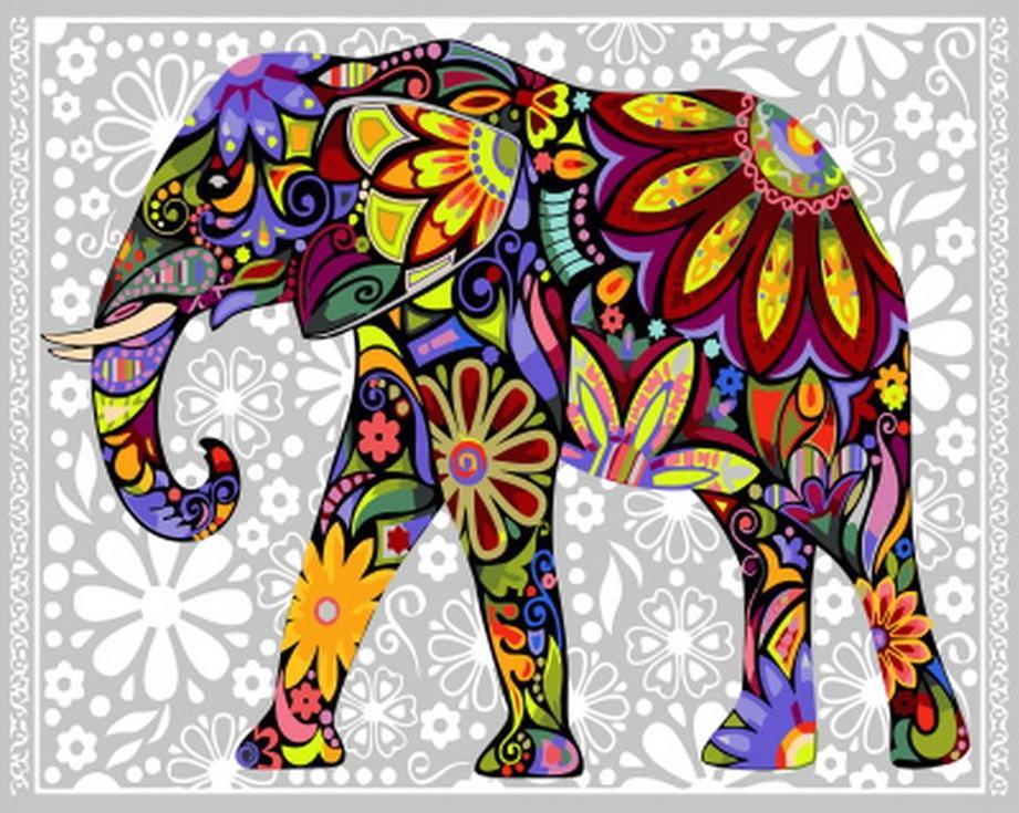 «Цветочный слон»Раскраски по номерам Paintboy (Original)<br><br><br>Артикул: GX4030_R<br>Основа: Холст<br>Сложность: средние<br>Размер: 40x50 см<br>Количество цветов: 24<br>Техника рисования: Без смешивания красок
