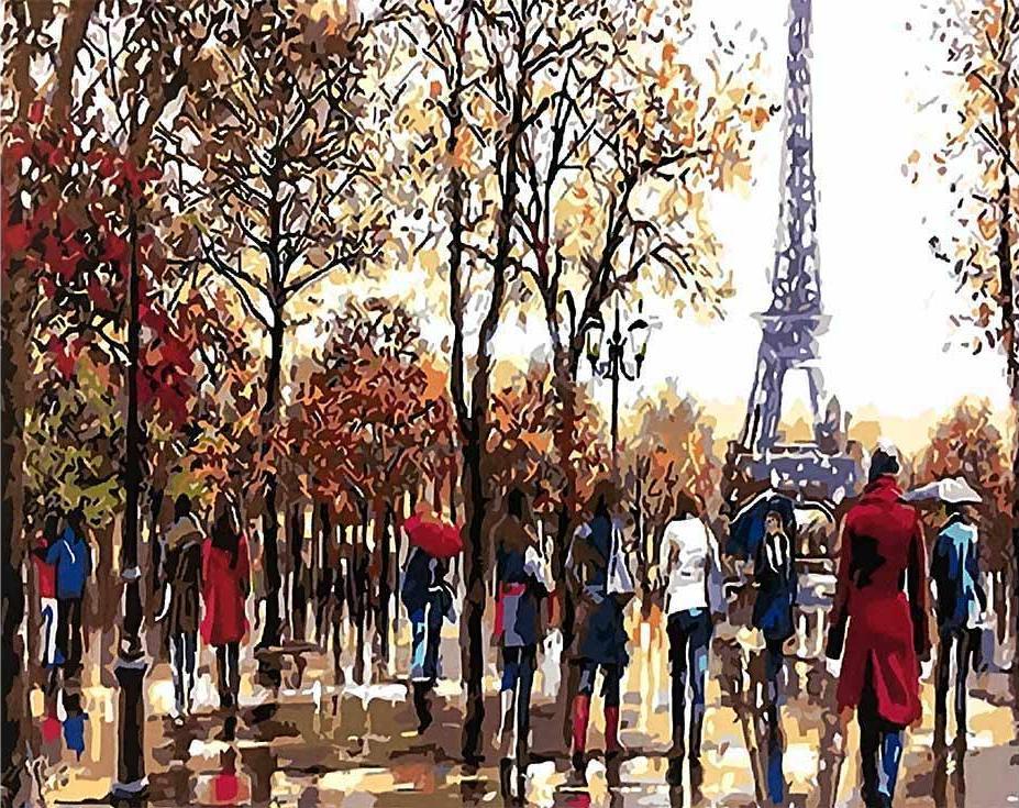 «Эйфелева башня осенью» Ричарда МакнейлаPaintboy (Premium)<br><br><br>Артикул: GX4071<br>Основа: Холст<br>Сложность: средние<br>Размер: 40x50 см<br>Количество цветов: 26<br>Техника рисования: Без смешивания красок