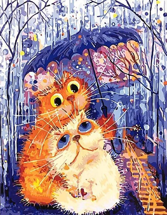 Картина по номерам «Втроем под зонтиком» Бориса КасьяноваPaintboy (Premium)<br><br><br>Артикул: GX4085<br>Основа: Холст<br>Сложность: средние<br>Размер: 40x50 см<br>Количество цветов: 24<br>Техника рисования: Без смешивания красок