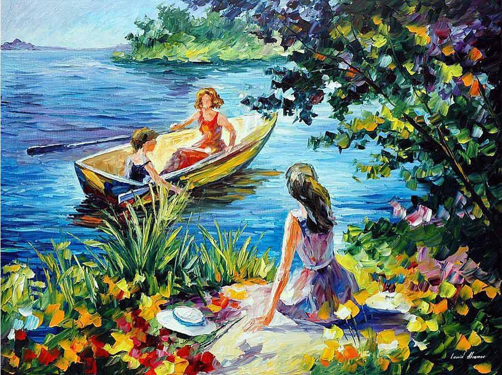 Картина по номерам «На озере» Леонида АфремоваPaintboy (Premium)<br><br><br>Артикул: GX4144<br>Основа: Холст<br>Сложность: сложные<br>Размер: 40x50 см<br>Количество цветов: 24<br>Техника рисования: Без смешивания красок