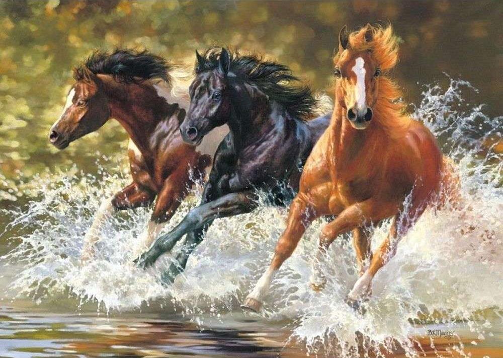 «Лошади» Бонни МаррисPaintboy (Premium)<br><br><br>Артикул: GX7841<br>Основа: Холст<br>Сложность: сложные<br>Размер: 40x50 см<br>Количество цветов: 27<br>Техника рисования: Без смешивания красок