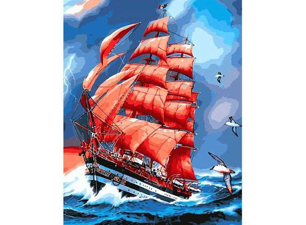 «Алые паруса»Paintboy (Premium)<br><br><br>Артикул: GX8794<br>Основа: Холст<br>Сложность: сложные<br>Размер: 40x50 см<br>Количество цветов: 25<br>Техника рисования: Без смешивания красок