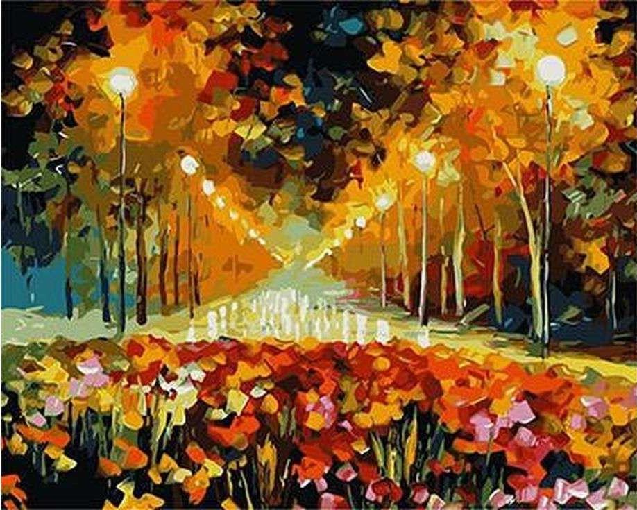Картина по номерам «Аллея роз» Леонида АфремоваPaintboy (Premium)<br><br><br>Артикул: GX9020<br>Основа: Холст<br>Сложность: сложные<br>Размер: 40x50 см<br>Количество цветов: 24<br>Техника рисования: Без смешивания красок