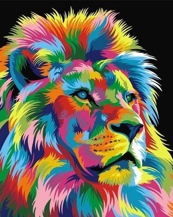 «Королевский радужный лев» Ваю РомдониPaintboy (Premium)<br><br><br>Артикул: GX9053<br>Основа: Холст<br>Сложность: сложные<br>Размер: 40x50 см<br>Количество цветов: 17<br>Техника рисования: Без смешивания красок