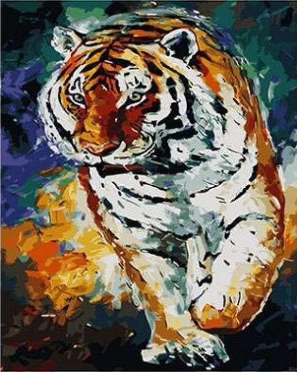 Картина по номерам «Тигр» Леонида АфремоваРаскраски по номерам<br><br>