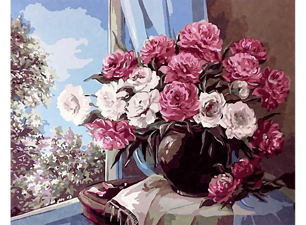 «Цветочный натюрморт» Анки БулгаруPaintboy (Premium)<br><br><br>Артикул: GX9408<br>Основа: Холст<br>Сложность: сложные<br>Размер: 40x50 см<br>Количество цветов: 30<br>Техника рисования: Без смешивания красок