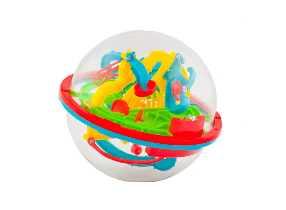 Шар-лабиринт Track Ball 3D 13 см (100 ходов)Шары-лабиринты<br>Шар-лабиринт Track Ball 3D 13 см (100 ходов) - это прозрачная сфера, с проходящей внутри трассой-лабиринтом, которая содержит 100 препятствий. <br> Главная задача игры: следуя из одной плоскости в другую, провести по дорожкам лабиринта маленький шарик и поп...<br><br>Артикул: HB047836<br>Вес: 300 г<br>Материал: Пластик<br>Возраст: от 3 лет<br>Количество игроков: 1<br>Аудитория: Детские