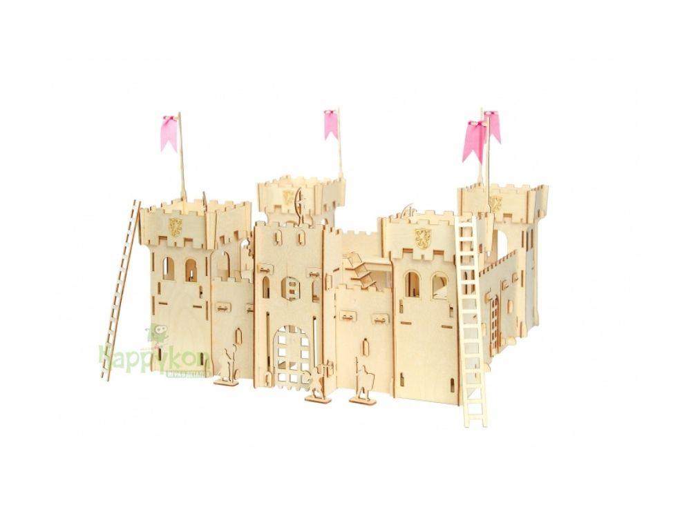 Конструктор «Крепость»Конструкторы Happykon<br>Деревянный конструктор Хэппикон Крепость - это идеальная игрушка для мальчишек. Крепость собирается без использования клея, все элементы легко и прочно соединяются друг с другом, а в случае переезда вы сможете также легко и быстро его разобрать.<br> <br> По...<br><br>Артикул: HK-KR001<br>Вес: 2,3 кг<br>Размер готовой модели: 29x29x49 см<br>Материал: Дерево (фанера)<br>Размер упаковки: 29x44x3 см<br>Возраст: от 5 лет