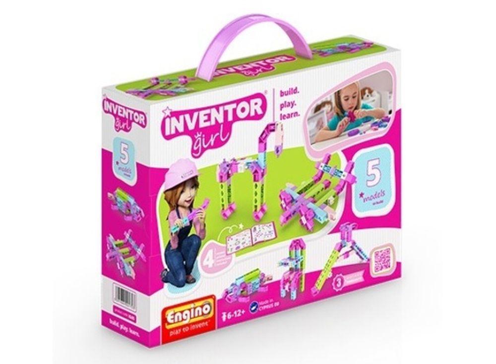 Конструктор Engino Набор из 5 моделейПластиковые конструкторы (Модели для сборки) Engino<br><br><br>Артикул: IG05<br>Вес: 189 г<br>Серия: INVENTOR GIRLS<br>Материал: Пластик<br>Размер упаковки: 22x6x16 см<br>Возраст: от 6 лет