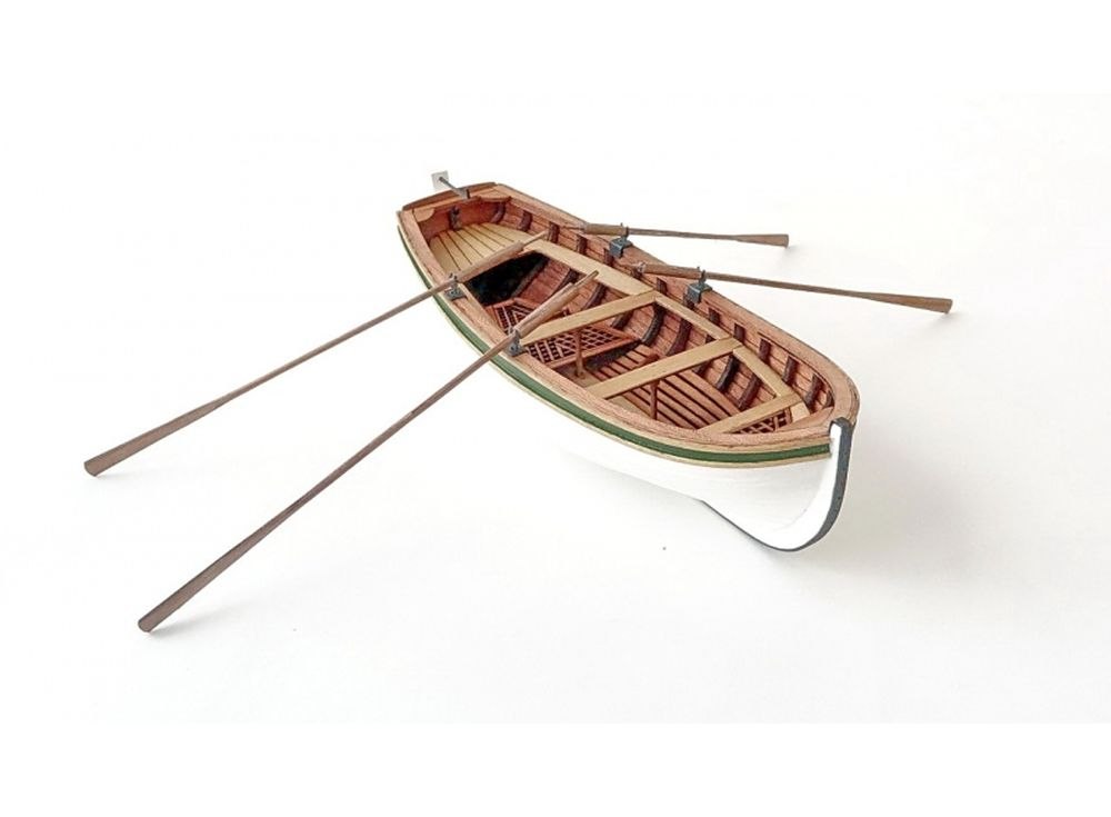 Модель для сборки Четырехвесельная шлюпка 1:36Сборные деревянные модели<br>LS MODEL представляет свою новую модель для самостоятельной сборки Wooden Kit - четырех весельная шлюпка. В набор для постройки стендовой модели из дерева Wooden Kit входят: элементы деталей, изготовленные из благородных пород дерева (полный лазерный раск...<br><br>Артикул: LSM0402<br>Вес: 500 г<br>Размер готовой модели: 13,5x3,4x5,2 см<br>Материал: Дерево (фанера)<br>Возраст: от 12 лет