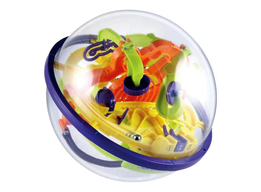 Шар-лабиринт Intellect Ball 100 шаговШары-лабиринты<br>Шар-лабиринт Intellect Ball 100 шагов представляет собой прозрачную сферу, изготовленную из пластика, внутри которой размещён сложный и запутанный 3D-лабиринт на 100 шагов - нелегкий путь, по которому должен пройти маленький шарик.<br> <br> Частые вращения го...<br><br>Артикул: LXP-923C<br>Размер готовой модели: Диаметр: 21 см<br>Материал: Пластик<br>Возраст: от 3 лет<br>Количество игроков: 1<br>Аудитория: Детские