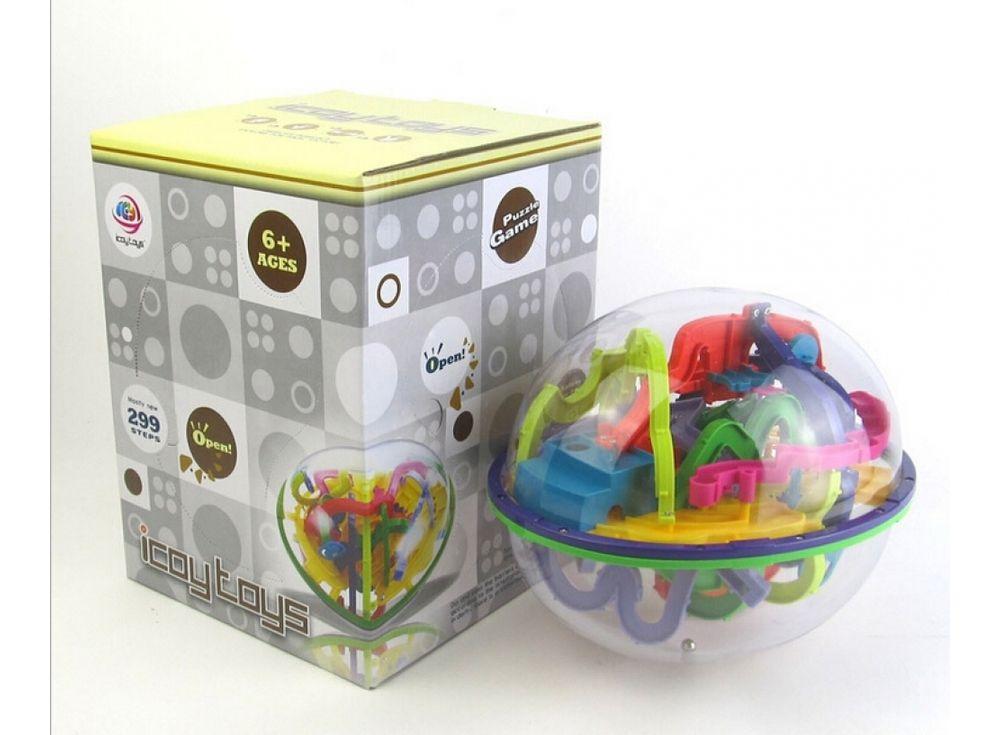 Шар-лабиринт Intellect Ball 299 шаговИгры и головоломки<br><br><br>Артикул: LXP-939<br>Размер готовой модели: Диаметр: 18x22 см<br>Материал: Пластик<br>Возраст: от 3 лет