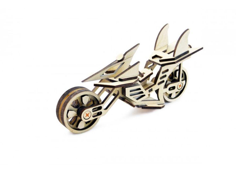 Конструктор «Мотоцикл Фантом»3D Конструкторы Lemmo<br>Экологически чистые, развивающие конструкторы от российского производителя Lemmo помогут вашему ребенку развить мелкую моторику рук, воображение, пространственное мышление, логику и познакомят с предметным моделированием.<br> <br>Все детали выполнены из кач...<br><br>Артикул: МЦ-3<br>Вес: 110 г<br>Размер готовой модели: 18x49,5 см<br>Материал: дерево (фанера)<br>Возраст: от 5 лет