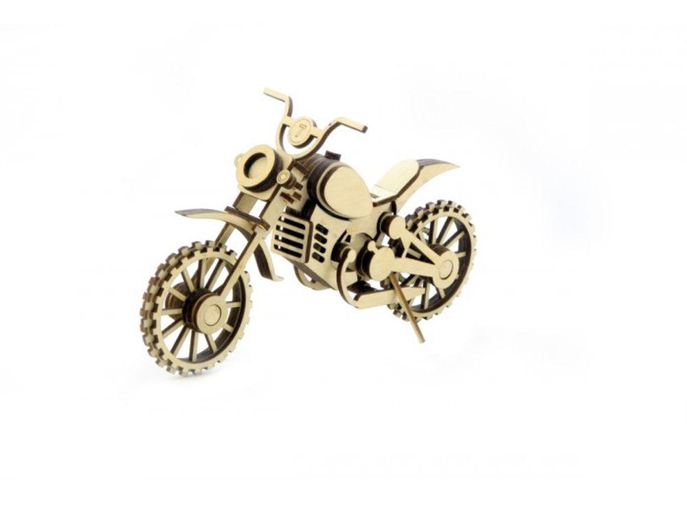 Конструктор «Мотоцикл Кросс»3D Конструкторы Lemmo<br><br><br>Артикул: МЦ-4<br>Вес: 120 г<br>Размер готовой модели: 20,5x7x13 см<br>Материал: дерево (фанера)<br>Возраст: от 5 лет