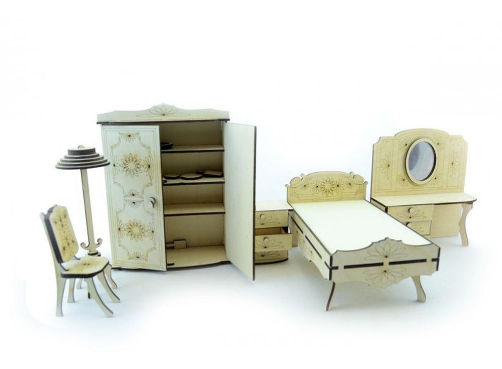 Конструктор «Набор мебели спальня»3D Конструкторы Lemmo<br>Экологически чистые, развивающие конструкторы от российского производителя Lemmo помогут вашему ребенку развить мелкую моторику рук, воображение, пространственное мышление, логику и познакомят с предметным моделированием.<br> <br> Все детали выполнены из ка...<br><br>Артикул: МЕ-7<br>Вес: 810 г<br>Размер готовой модели: шкаф (1шт.): 21,5x16x7 см; трюмо (1шт.): 15,5x17x6 см; тумбочка (1шт.): 8,5x5x8 см; стул (1шт.): 11x4,5x6,5 см; кровать (1шт.): 19,5x12x11 см<br>Материал: дерево (фанера)<br>Возраст: от 5 лет