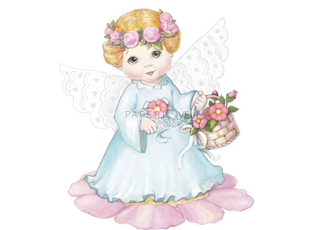 Папертоль «Ангел с цветами»