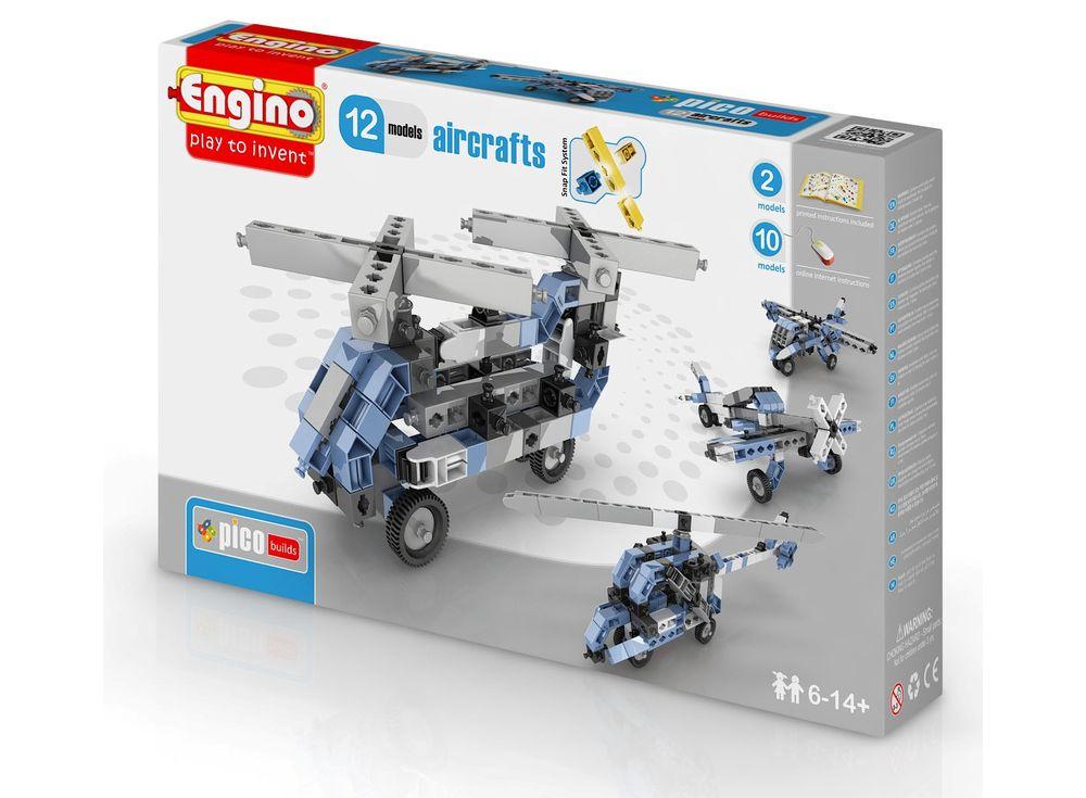 Конструктор Engino Самолеты - 12 моделей ст.15Пластиковые конструкторы (Модели для сборки) Engino<br>Конструктор для начинающих Engino PICO BUILDS/INVENTOR Самолеты Позволит вашему ребенку собрать 12 различных моделей летательных аппаратов. В коробке с конструктором находятся 2 инструкции, а ещё 10 можно скачать на нашем сайте в карточке товара.<br> Всего ...<br><br>Артикул: PB33(1233)<br>Вес: 380 г<br>Серия: PICO BUILDS/INVENTOR<br>Материал: Пластик<br>Размер упаковки: 23x5x31 см<br>Возраст: от 6 лет