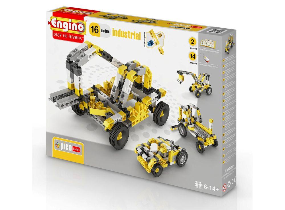 Конструктор Engino Спецтехника - 16 моделейПластиковые конструкторы (Модели для сборки) Engino<br><br><br>Артикул: PB44(1634)<br>Вес: 610 г<br>Серия: PICO BUILDS/INVENTOR<br>Материал: Пластик<br>Размер упаковки: 27x5x37 см<br>Возраст: от 6 лет