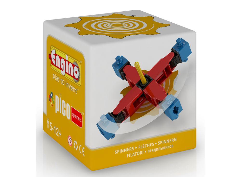 Engino Волчок желтыйПластиковые конструкторы (Модели для сборки) Engino<br>Компания Engino всемирно известна благодаря своим инженерным наборам. А серия Pico Spinners — это конструкторы для самых маленьких. Из 14 деталей малыш сможет собрать самый настоящий волчок. В коробке находится подробная инструкция по сборке с подробной п...<br><br>Артикул: PS02<br>Вес: 33 г<br>Серия: PICO SPINNERS<br>Материал: Пластик<br>Размер упаковки: 6x6x6 см<br>Возраст: от 6 лет