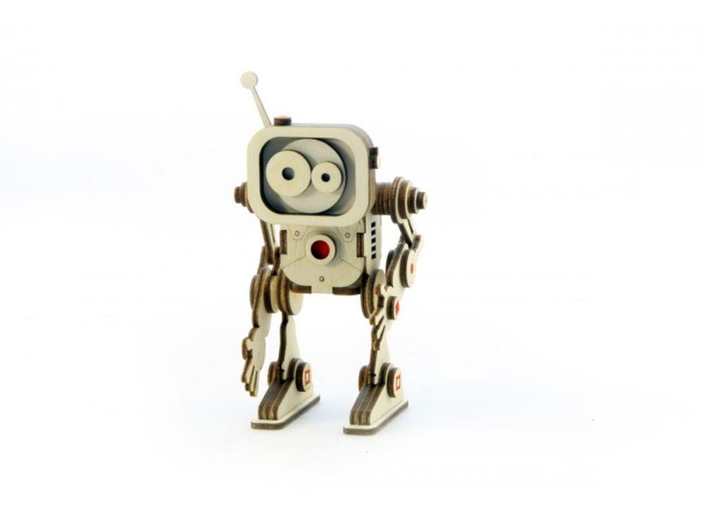 Конструктор «Робот Флеш»3D Конструкторы Lemmo<br>Экологически чистые, развивающие конструкторы от российского производителя Lemmo помогут вашему ребенку развить мелкую моторику рук, воображение, пространственное мышление, логику и познакомят с предметным моделированием.<br> <br>Все детали выполнены из кач...<br><br>Артикул: Р-2<br>Вес: 80 г<br>Размер готовой модели: 14x7,5x6 см<br>Материал: дерево (фанера)<br>Возраст: от 5 лет