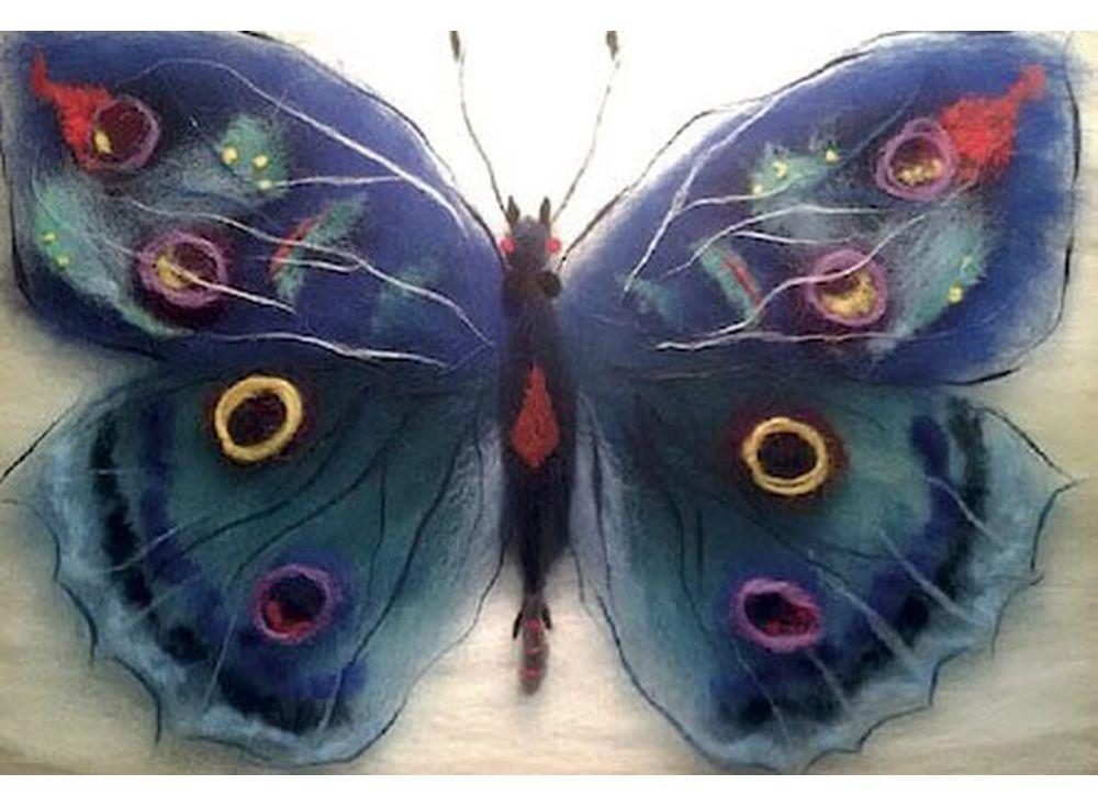 Картина шерстью «Бабочка Артемида»