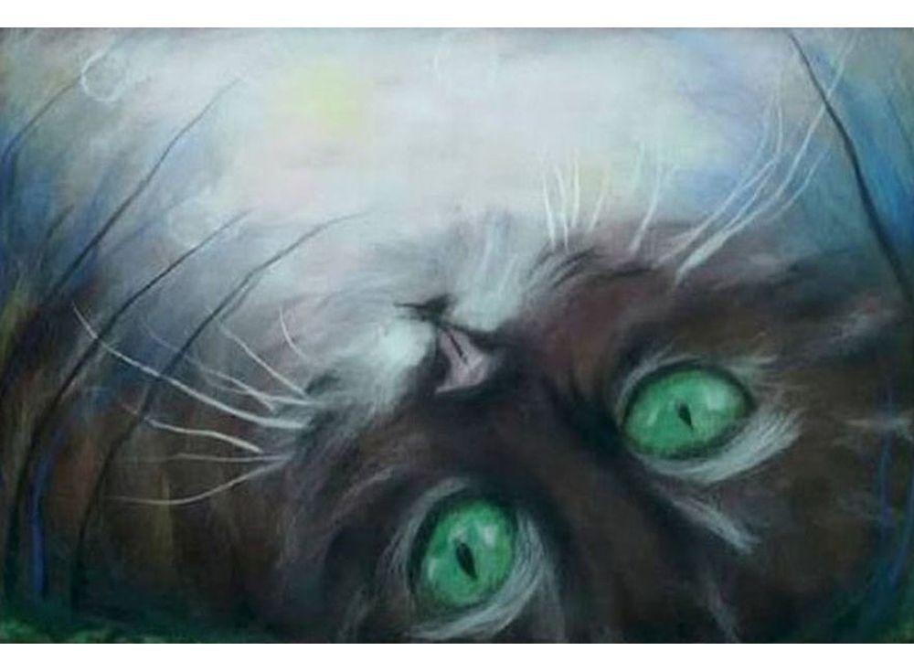 Картина шерстью «Лунный кот»Картины шерстью Цветной<br>Шерстяная живопись, рисование шерстью, теплая картина - это о картинах шерстью. Набор содержит все, что необходимо для творческого процесса, в том числе и рамку со стеклом. Порядок работы над картиной шерстью подробно, с фото и пояснениями изложен в инстр...<br><br>Артикул: SH041<br>Сложность: сложные<br>Размер: 20x30 см<br>Количество цветов: 16