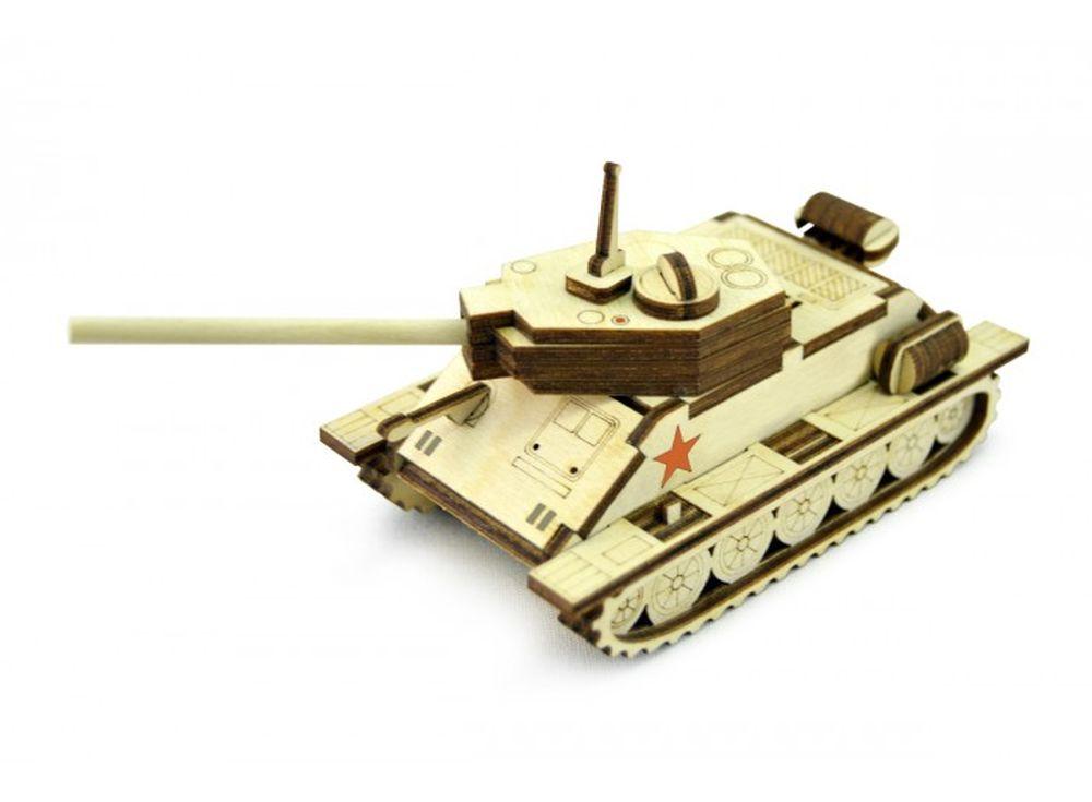 Конструктор «Танчик Т-34»3D Конструкторы Lemmo<br>Экологически чистые, развивающие конструкторы от российского производителя Lemmo помогут вашему ребенку развить мелкую моторику рук, воображение, пространственное мышление, логику и познакомят с предметным моделированием.<br> <br>Все детали выполнены из кач...<br><br>Артикул: Т-34М<br>Вес: 70 г<br>Размер готовой модели: 15,5x7x6 см<br>Материал: дерево (фанера)<br>Возраст: от 5 лет