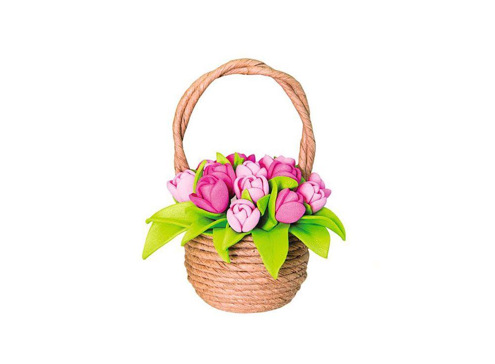 Набор для создания топиария «Тюльпаны в корзинке»