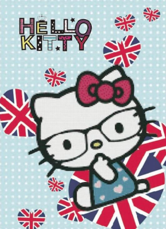 Алмазная вышивка «Hello Kitty»Цветной<br><br><br>Артикул: X155<br>Основа: Холст без подрамника<br>Сложность: легкие<br>Размер: 17x22 см<br>Выкладка: Частичная<br>Количество цветов: 8-15<br>Тип страз: Круглые непрозрачные (акриловые)