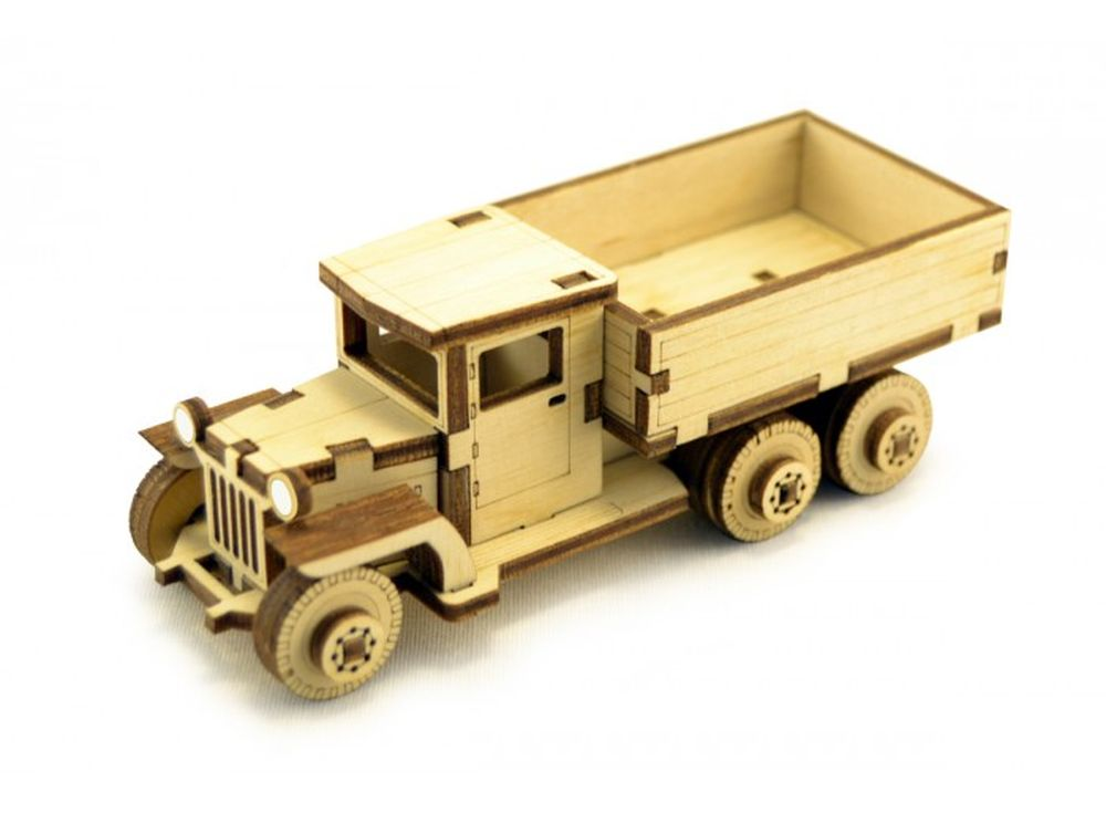 Конструктор «Советский грузовик ЗИС-5В»3D Конструкторы Lemmo<br>Экологически чистые, развивающие конструкторы от российского производителя Lemmo помогут вашему ребенку развить мелкую моторику рук, воображение, пространственное мышление, логику и познакомят с предметным моделированием.<br> <br>Все детали выполнены из кач...<br><br>Артикул: ЗИС-2<br>Вес: 70 г<br>Размер готовой модели: 12x4,5x5 см<br>Материал: дерево (фанера)<br>Возраст: от 5 лет
