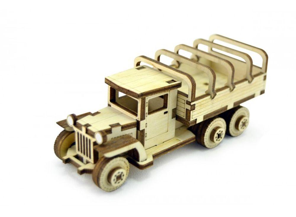 Конструктор «Советский грузовик ЗИС-5вп»3D Конструкторы Lemmo<br>Экологически чистые, развивающие конструкторы от российского производителя Lemmo помогут вашему ребенку развить мелкую моторику рук, воображение, пространственное мышление, логику и познакомит с предметным моделированием.<br> <br>Все детали выполнены из кач...<br><br>Артикул: ЗИС-4<br>Вес: 70 г<br>Размер готовой модели: 12x5x4,5 см<br>Материал: дерево (фанера)<br>Возраст: от 5 лет