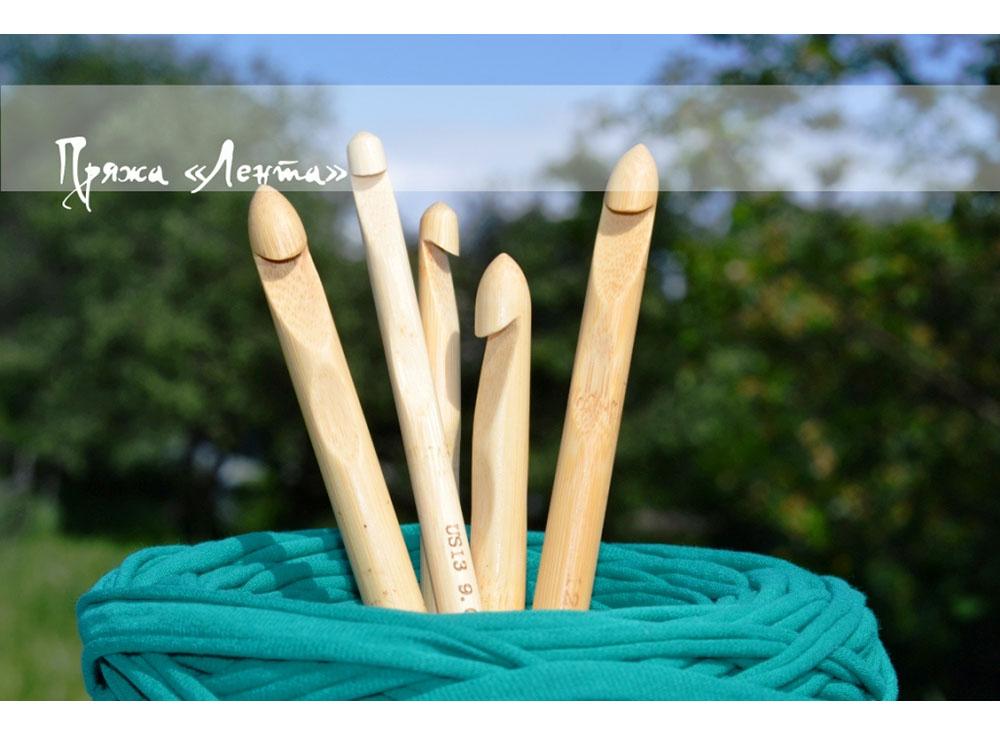 Крючок для вязания № 9 из бамбукаАксессуары для вязания<br><br><br>Артикул: Lnt02sb<br>Размер: №9<br>Материал: Бамбук
