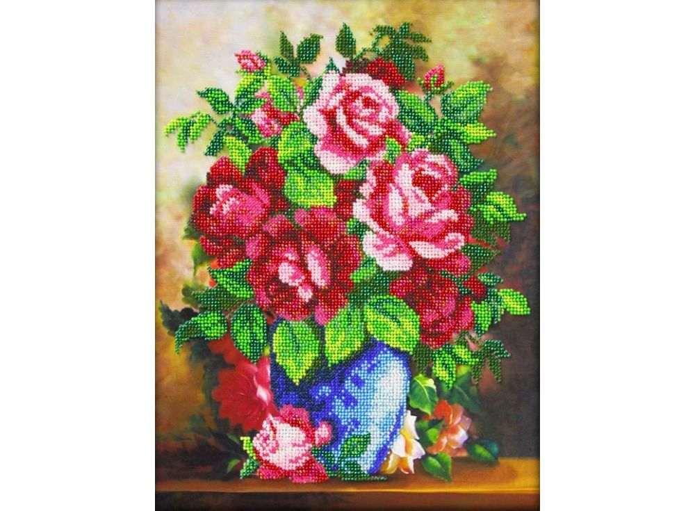 Набор вышивки бисером «Ваза с розами»Вышивка бисером Паутинка<br><br>