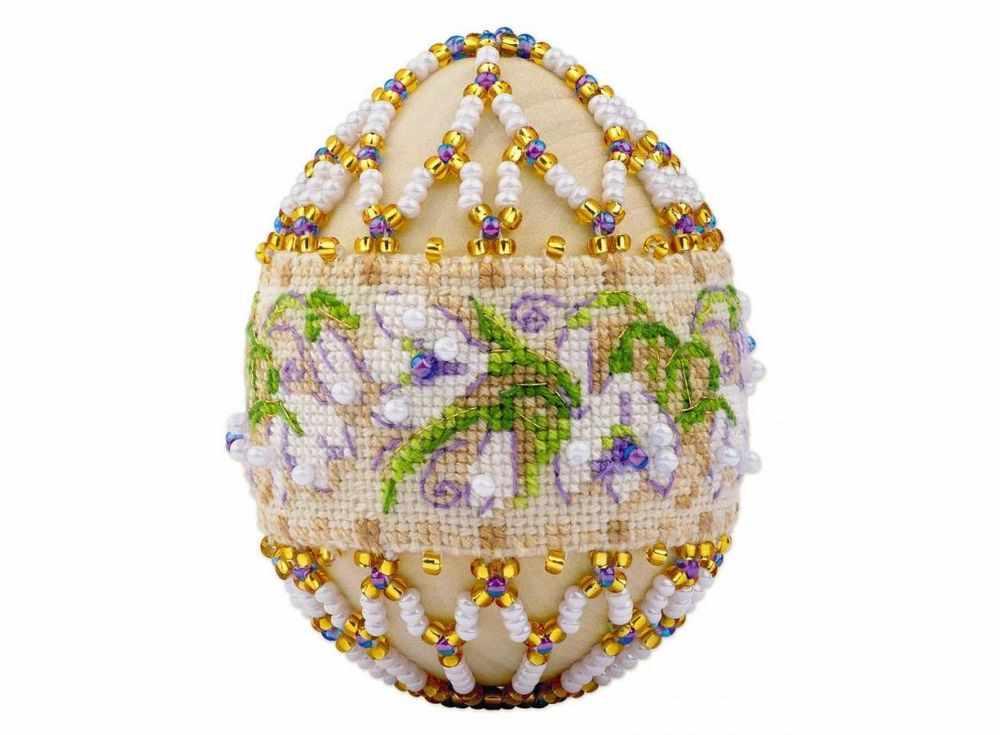 Набор для бисероплетения «Яйцо. Подснежники»