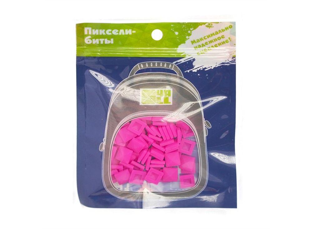 Биты 4ALL Case ярко-розовые, 80 шт.Пиксельные рюкзаки<br><br><br>Артикул: В22-19<br>Размер готовой модели: 9x9 см<br>Цвет: Ярко-розовый<br>Серия: 4ALL Case<br>Материал: Силикон<br>Возраст: от 3 лет<br>Размер битов: Большие<br>Количество битов: 80 шт.
