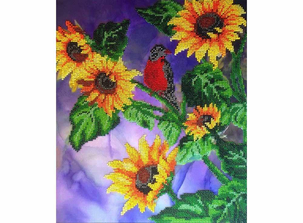 Набор вышивки бисером «Живое солнце»Вышивка бисером FeDi<br><br><br>Артикул: КВ420<br>Основа: ткань<br>Размер: 28x33 см<br>Техника вышивки: бисер<br>Тип схемы вышивки: Цветная схема<br>Количество цветов: 18<br>Заполнение: Частичное<br>Рисунок на канве: нанесён рисунок и схема<br>Техника: Вышивка бисером