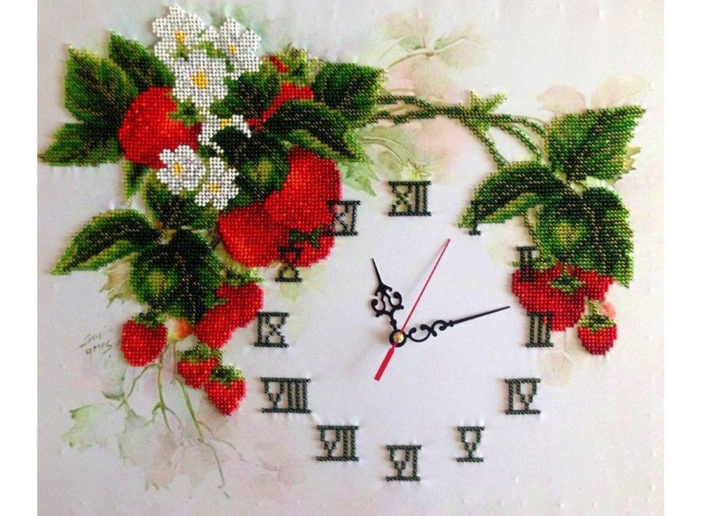 Набор вышивки бисером «Часы. Летние часы»Вышивка часов FeDi<br><br><br>Артикул: КВ522<br>Основа: ткань<br>Размер: 31x38 см<br>Техника вышивки: бисер<br>Тип схемы вышивки: Цветная схема<br>Количество цветов: 14<br>Заполнение: Частичное<br>Рисунок на канве: нанесён рисунок и схема<br>Техника: Вышивка часов