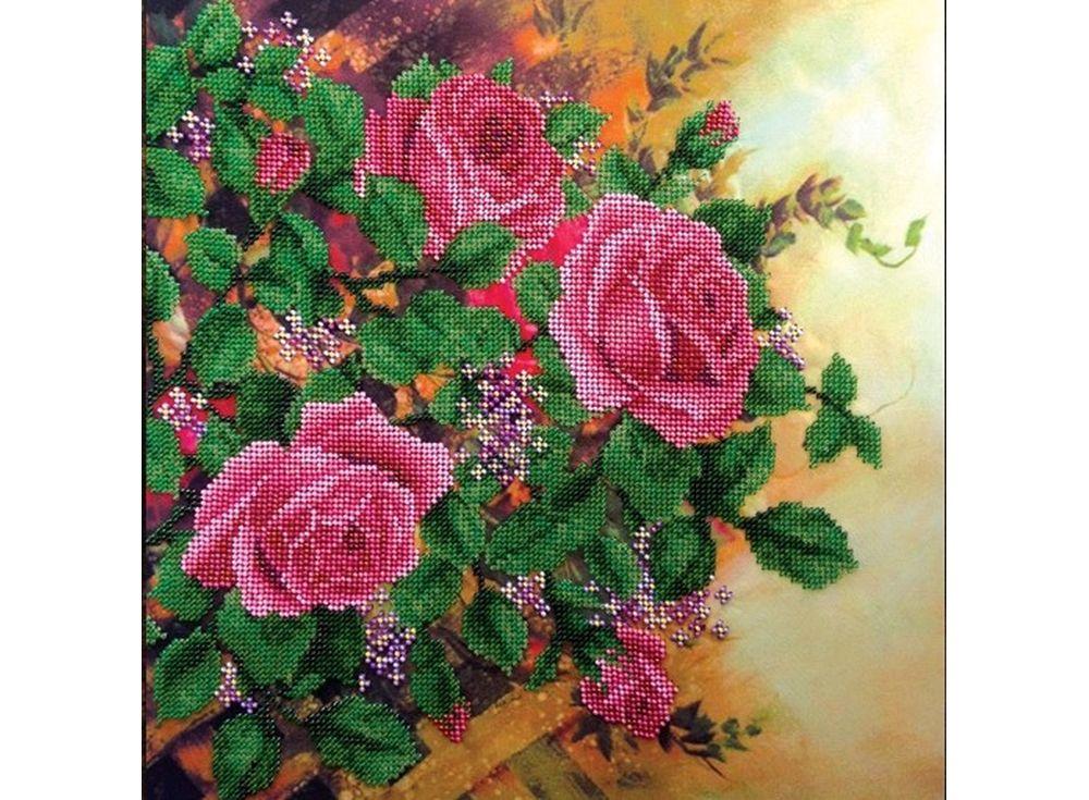 Набор вышивки бисером «Вьющиеся розы»Вышивка бисером FeDi<br><br><br>Артикул: КВ523<br>Основа: ткань<br>Размер: 33x33 см<br>Техника вышивки: бисер<br>Тип схемы вышивки: Цветная схема<br>Количество цветов: 15<br>Заполнение: Частичное<br>Рисунок на канве: нанесён рисунок и схема<br>Техника: Вышивка бисером