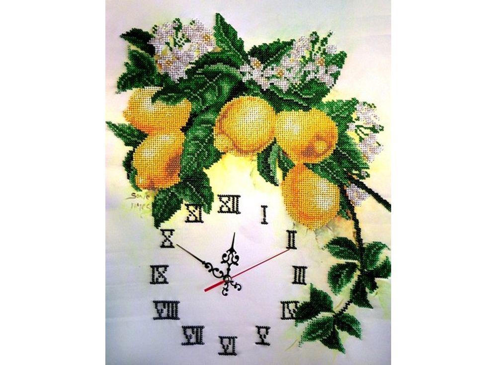 Набор вышивки бисером «Часы с лимонами»Вышивка часов FeDi<br><br><br>Артикул: КВ631<br>Основа: ткань<br>Размер: 32x40 см<br>Техника вышивки: бисер<br>Тип схемы вышивки: Цветная схема<br>Количество цветов: 14<br>Заполнение: Частичное<br>Рисунок на канве: нанесён рисунок и схема<br>Техника: Вышивка часов