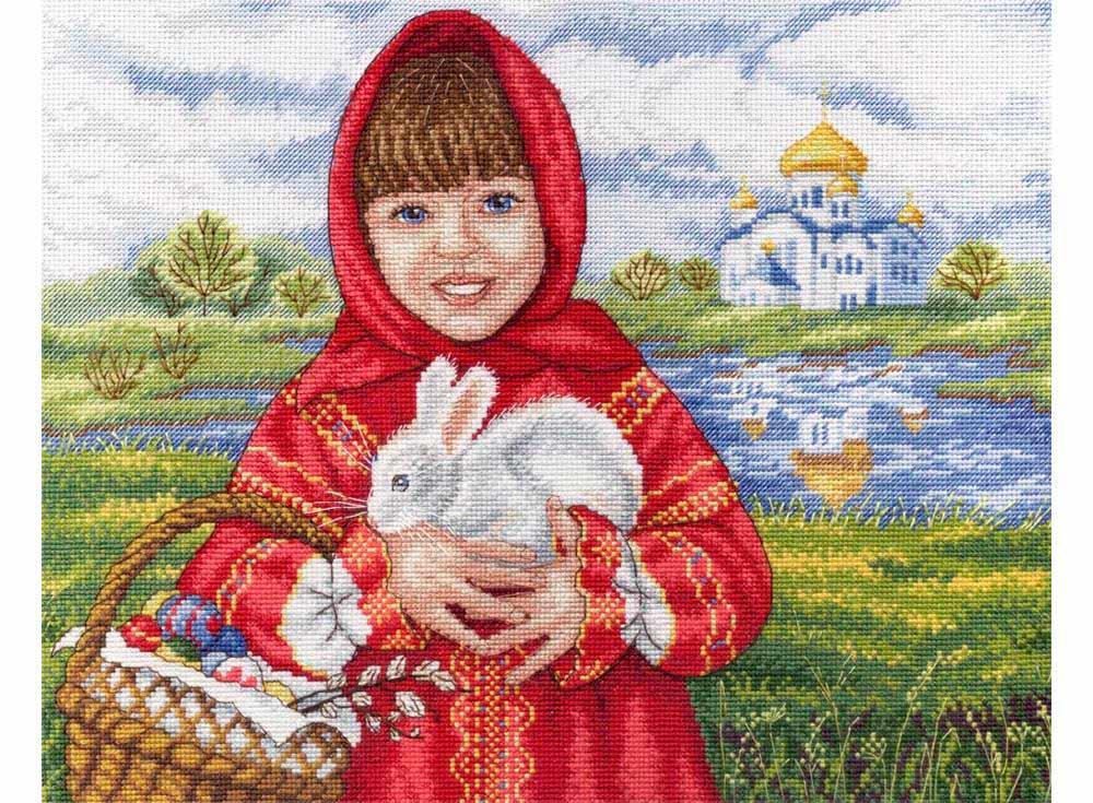 Набор для вышивания «Пасхальный кролик»Вышивка крестом МП-студия<br><br><br>Артикул: НВ-623<br>Основа: канва Aida 18<br>Размер: 22x29 см<br>Техника вышивки: счетный крест<br>Тип схемы вышивки: Цветная схема<br>Цвет канвы: Белый<br>Количество цветов: 32<br>Заполнение: Частичное<br>Рисунок на канве: не нанесён<br>Техника: Вышивка крестом<br>Нитки: мулине 100% хлопок Gamma