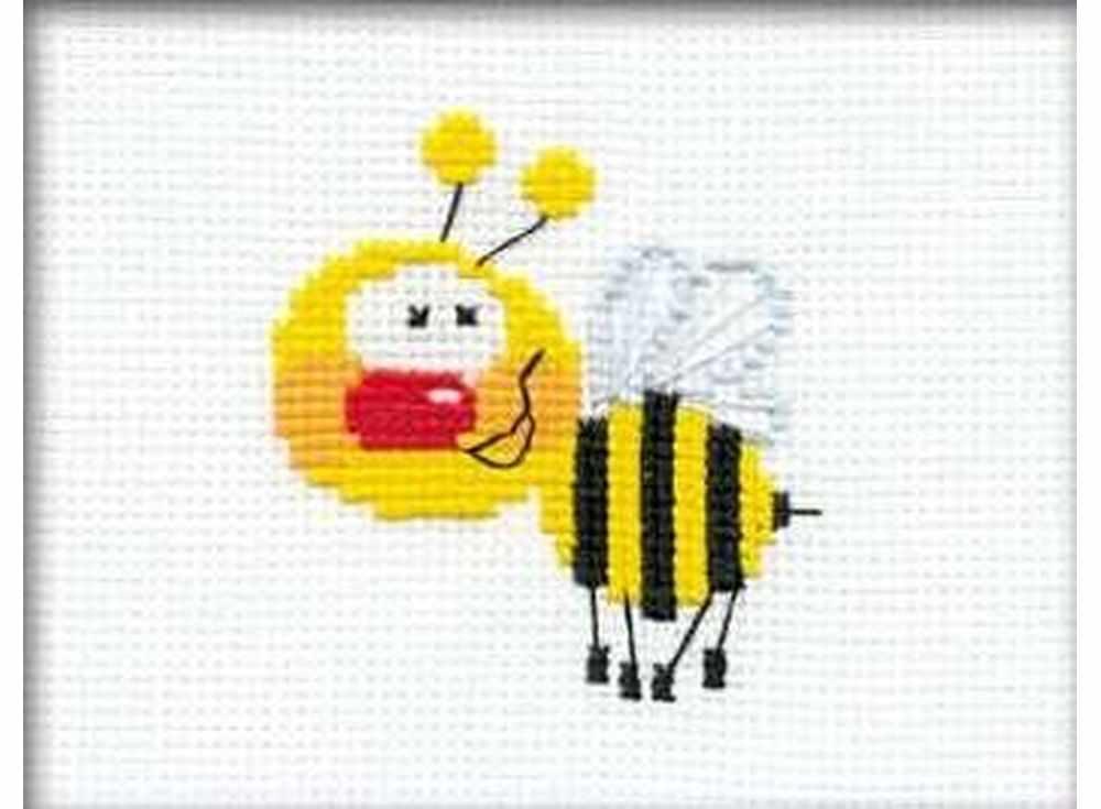 Набор для вышивания «Пчелка»Вышивка крестом Риолис<br><br><br>Артикул: НВ001<br>Основа: канва 10 Aida Zweigart<br>Размер: 16x13 см<br>Техника вышивки: счетный крест<br>Серия: Риолис (Веселая пчелка)<br>Тип схемы вышивки: Цветная схема<br>Цвет канвы: Белый<br>Количество цветов: 5<br>Художник, дизайнер: Анна Король<br>Заполнение: Частичное<br>Игла: 1 вид<br>Рисунок на канве: не нанесён<br>Техника: Вышивка крестом<br>Нитки: мулине СПб