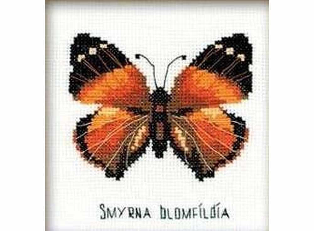 Набор для вышивания «Бабочка нимфалида»Вышивка крестом Риолис<br><br><br>Артикул: НВ094<br>Основа: канва 14 Aida Zweigart<br>Размер: 13x13 см<br>Техника вышивки: счетный крест<br>Серия: Риолис (Веселая пчелка)<br>Тип схемы вышивки: Цветная схема<br>Цвет канвы: Белый<br>Количество цветов: 7<br>Художник, дизайнер: Анна Король<br>Заполнение: Частичное<br>Игла: 1 вид<br>Рисунок на канве: не нанесён<br>Техника: Вышивка крестом<br>Нитки: мулине СПб