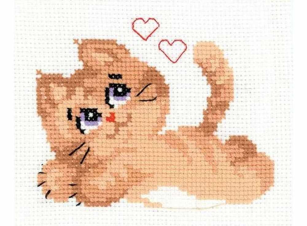Набор для вышивания «Котик»Вышивка крестом Риолис<br><br><br>Артикул: НВ132<br>Основа: канва 10 Aida Zweigart<br>Размер: 16x13 см<br>Техника вышивки: счетный крест<br>Серия: Риолис (Веселая пчелка)<br>Тип схемы вышивки: Цветная схема<br>Цвет канвы: Белый<br>Количество цветов: 7<br>Художник, дизайнер: Александра Гусарова<br>Заполнение: Частичное<br>Игла: 1 вид<br>Рисунок на канве: не нанесён<br>Техника: Вышивка крестом<br>Нитки: шерсть/акрил Safil