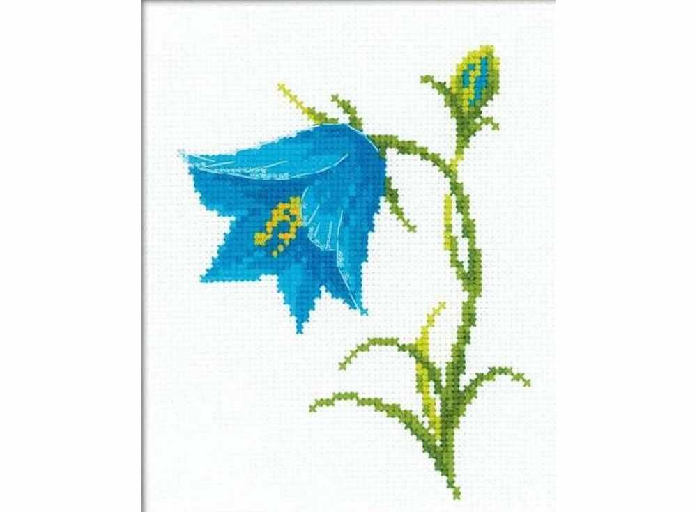 Набор для вышивания «Колокольчик»Вышивка крестом Риолис<br><br><br>Артикул: НВ136<br>Основа: канва 14 Aida Zweigart<br>Размер: 13x16 см<br>Техника вышивки: счетный крест<br>Серия: Риолис (Веселая пчелка)<br>Тип схемы вышивки: Цветная схема<br>Цвет канвы: Белый<br>Количество цветов: 8<br>Художник, дизайнер: Анна Петросян<br>Заполнение: Частичное<br>Игла: 1 вид<br>Рисунок на канве: не нанесён<br>Техника: Вышивка крестом<br>Нитки: мулине СПб
