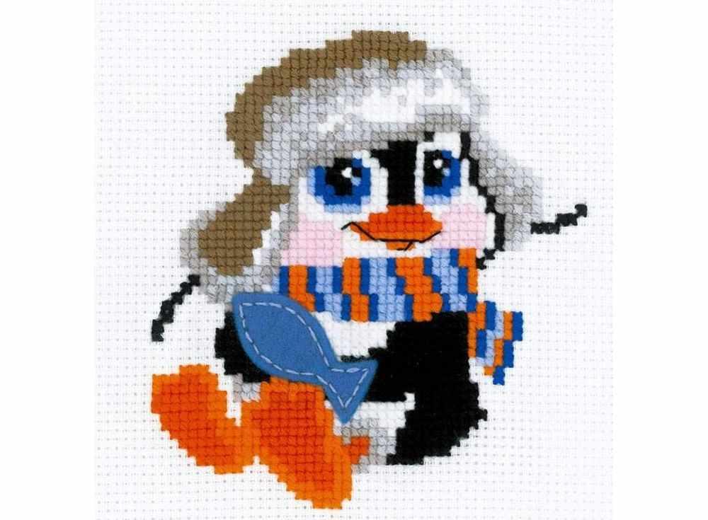 Набор для вышивания «Пингвинёнок»Вышивка смешанной техникой Риолис<br><br><br>Артикул: НВ158<br>Основа: канва 10 Aida Zweigart<br>Размер: 15x15 см<br>Техника вышивки: счетный крест+фетр<br>Тип схемы вышивки: Цветная схема<br>Цвет канвы: Белый<br>Количество цветов: Нитки шерсть: 10 цветов, фетр: 1 цвет<br>Художник, дизайнер: Анна Король<br>Заполнение: Частичное<br>Игла: 1 вид<br>Рисунок на канве: не нанесён<br>Техника: Смешанная техника<br>Нитки: шерсть/акрил Safil