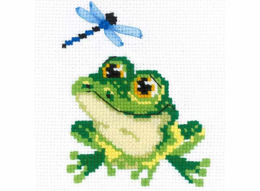 Набор для вышивания «Лягушонок»Вышивка крестом Риолис<br><br><br>Артикул: НВ159<br>Основа: канва 10 Aida Zweigart<br>Размер: 15x15 см<br>Техника вышивки: счетный крест<br>Серия: Риолис (Веселая пчелка)<br>Тип схемы вышивки: Цветная схема<br>Цвет канвы: Белый<br>Количество цветов: Нитки шерсть: 9 цветов, ленты: 1 цвет<br>Художник, дизайнер: Анна Король<br>Заполнение: Частичное<br>Игла: 1 вид<br>Рисунок на канве: не нанесён<br>Техника: Вышивка крестом<br>Нитки: шерсть/акрил Safil